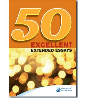 How to write an extended essay